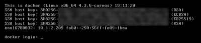 Success! CoreOS has read our cloud-config data and set the hostname correctly.